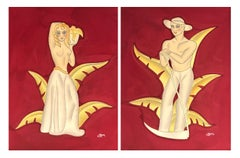 Pair of Art Deco Figures