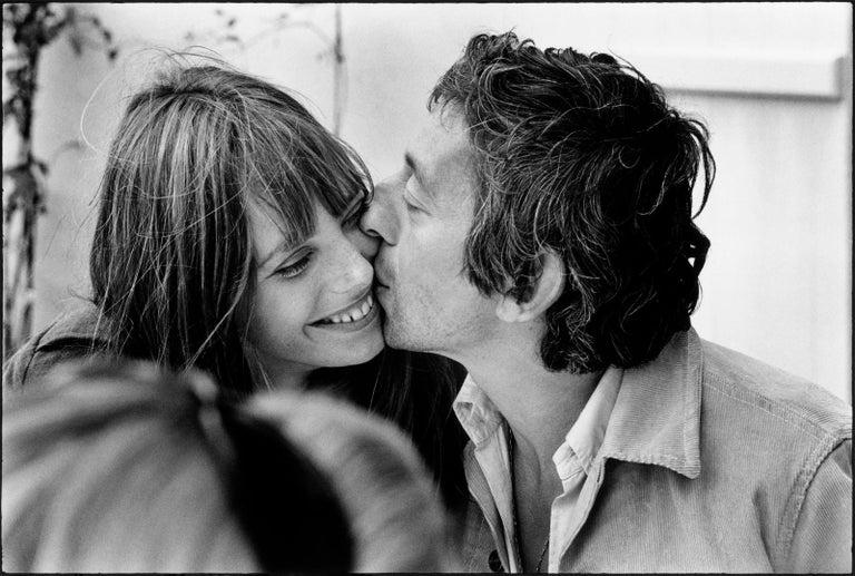 TONY FRANK Black and White Photograph - LE BAISER - JANE BIRKIN & SERGE GAINSBOURG 1969