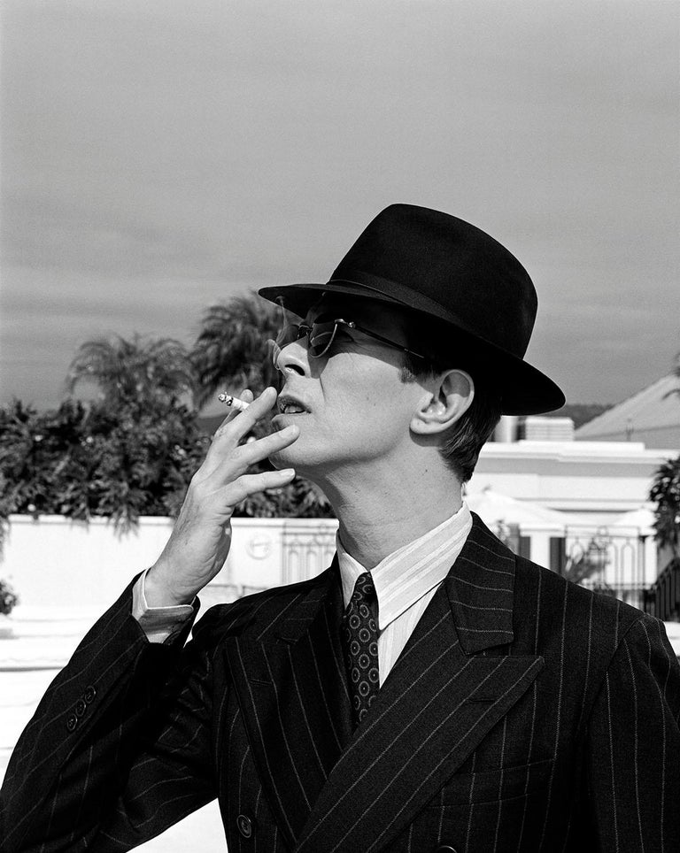 MICHEL HADDI Black and White Photograph - « David Bowie, The Legend », 1993  Peninsula Hotel, Los Angeles