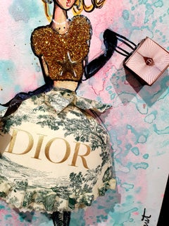 Fashion HOMMAGE - Dior & Miu Miu - 3D Sculpture on canvas