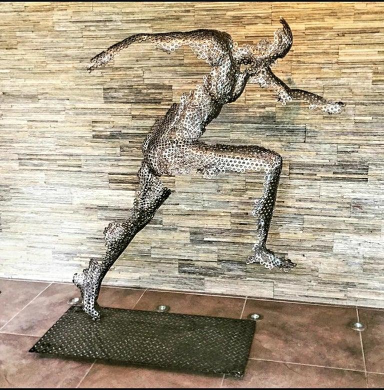 VYKI Figurative Sculpture - THE RUNNER - XL STEEL SCLUPTURE
