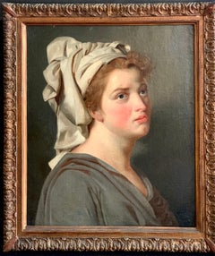 18th century French portrait study - Young Woman with a Turban