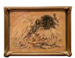 Expressionist Portrait of a Pekingese Dog - Dog Portrait Watercolor
