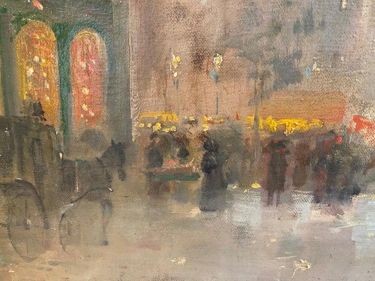 19th century French impressionistic Parisian cityscape 1