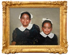 The happy sisters - Hyperrealist portrait - Black history Month Hyperrealism