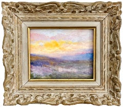 Petite 19th century French impressionist painting of a sunset - Van Gogh