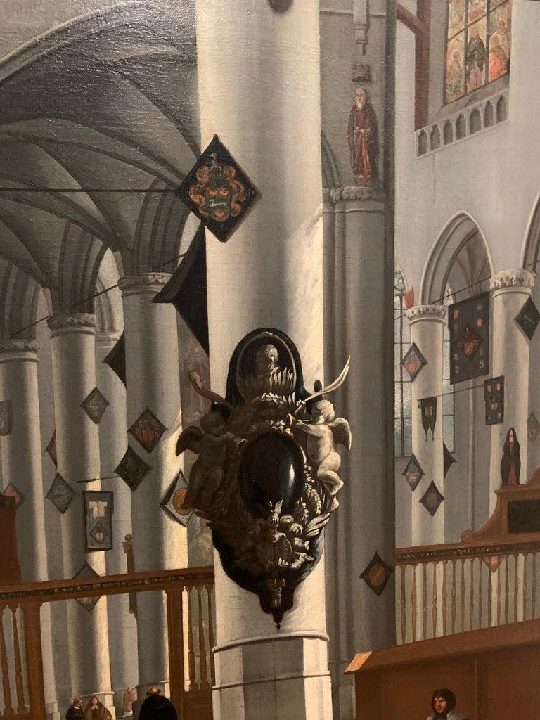 17th century dutch church interior - figurative old master religious interior  For Sale 1