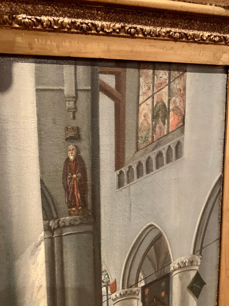 17th century dutch church interior - figurative old master religious interior  For Sale 3