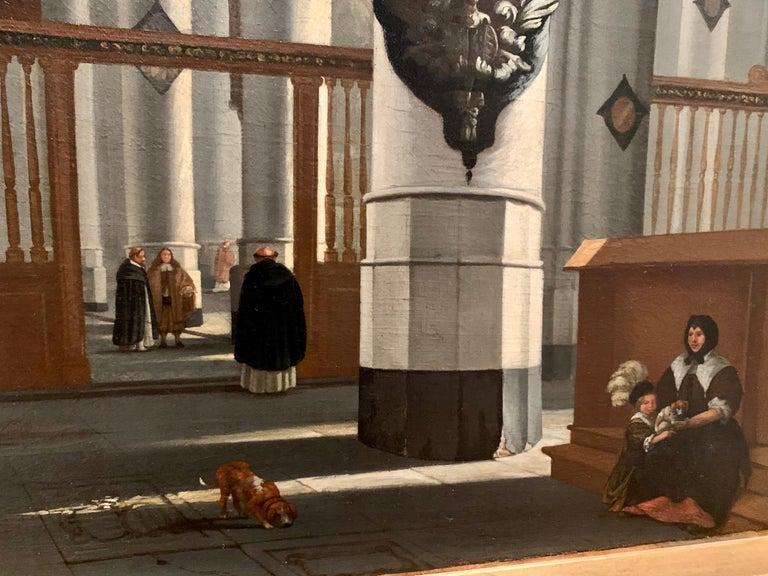 17th century dutch church interior - figurative old master religious interior  For Sale 5