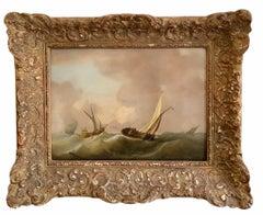 17th century Dutch Golden Age Marine painting - Choppy waters