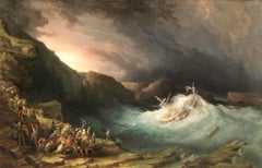 19th century British Marine painting - The storm