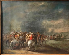 17th century dutch painting battle scene cavalry skirmish during the 80 year war