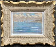 French impressionist Marine pastel painting Cote d'azur