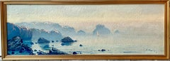 Large French Impressionist Seascape - Shore Sea Mediterranean