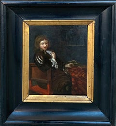 17th century Dutch old master painting - The young Student - Figurative Genre