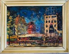 French impressionist Parisian cityscape Belle Epoque Paris Moulin Rouge