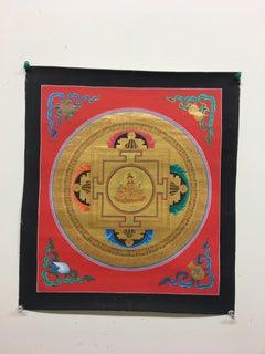 Gold Bajra Mandala Thangka