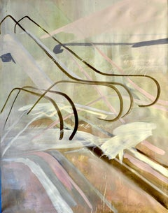 """Escaleras Mecánicas"", 2011, Canvas, Oil Paint, Abstract Contemporary painting"