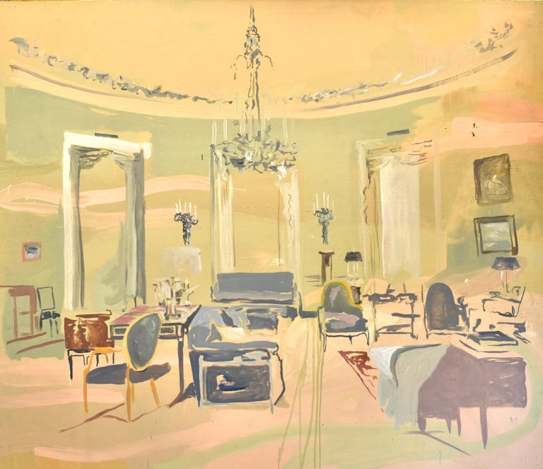 """Guillermo Conte Interior Painting - """"La Gran Sala"""", 2009, Canvas, Oil Paint, Interiors Contemporary painting"""