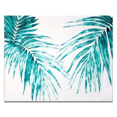 'Paradise Palms' Wrapped Canvas Original Watercolor Painting by Laurie Duncan