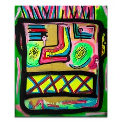 'Untitled II' Wrapped Canvas Original Street Art Painting by Big Bear