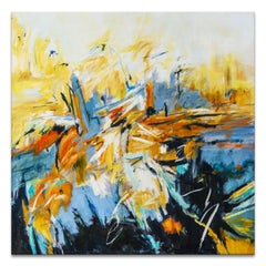 'Autumn Blaze' Wrapped Canvas Original Abstract Painting by Karen H. Salup