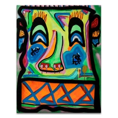 'Untitled III' Wrapped Canvas Original Street Art Painting by Big Bear