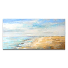 'Blue Inlet' Wrapped Canvas Original Seascape Painting by Dana McMillan