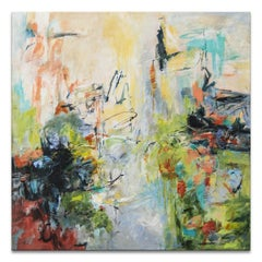 'Summer Fling' Wrapped Canvas Original Abstract Painting by Karen H. Salup