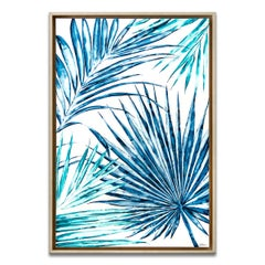 'Wild Fronds' Framed Canvas Original Watercolor Painting by Laurie Duncan