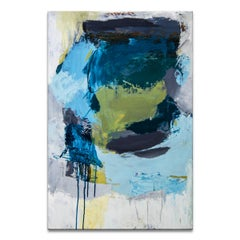 'Aqua Stack' Wrapped Canvas Original Abstract Painting by Tammy Staab