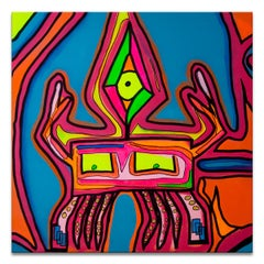 'Untitled IV' Wrapped Canvas Original Eccentric Street Art Painting by Big Bear