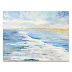 'White Water' Wrapped Canvas Original Seascape Painting by Dana McMillan