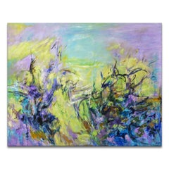 'The Clearing' Wrapped Canvas Original Abstract Painting by Karen H. Salup