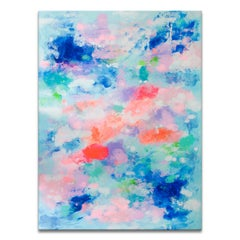 'Waking Up In The Sky' Wrapped Canvas Original Abstract Painting by Samerra
