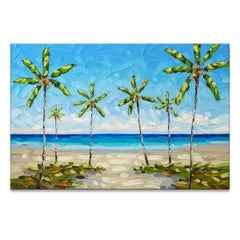 'Palm Beaches' Wrapped Canvas Original Coastal Painting by Sarah LaPierre