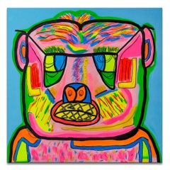 'Untitled VI' Wrapped Canvas Original Eccentric Street Art Painting by Big Bear