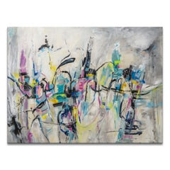 'Cityscape' Wrapped Canvas Original Abstract Painting by Karen Salup