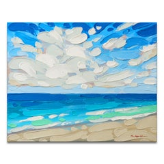 'Reflections IV' Wrapped Canvas Original Coastal Painting by Sarah LaPierre
