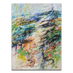 'Mountain Stream' Wrapped Canvas Original Abstract Painting by Karen H. Salup