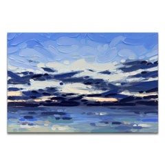 'Morning Blues' Wrapped Canvas Original Coastal Painting by Sarah LaPierre