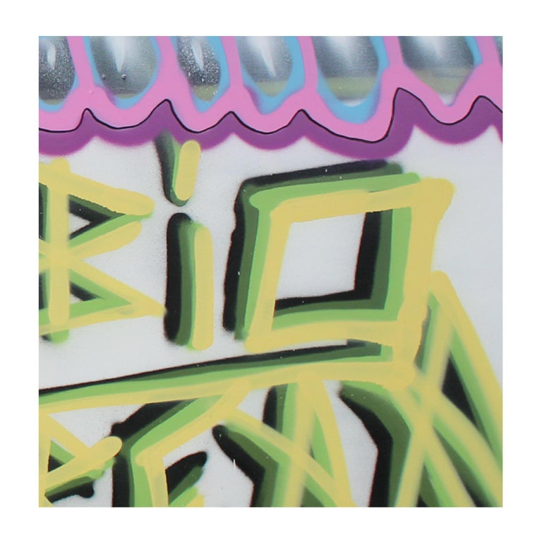 'Untitled XIII' Wrapped Canvas Original Street Art Painting by Big Bear  For Sale 1