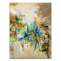 'Places' Original Wrapped Canvas Abstract Painting by Karen H. Salup