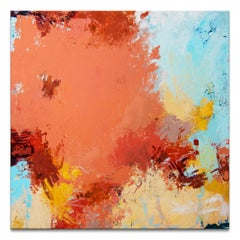 'April's Warmth' Wrapped Canvas Original Abstract Painting by Tammy Staab