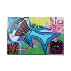 'Untitled XIV' Wrapped Canvas Original Street Art Painting by Big Bear