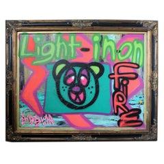 'Untitled XV' Framed Canvas Original Street Art Painting by Big Bear