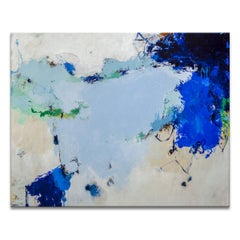 'Color Me Blue' Wrapped Canvas Original Abstract Painting by Tammy Staab