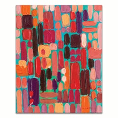 'Jewels' Wrapped Canvas Original Coastal Abstract Painting by Sarah LaPierre