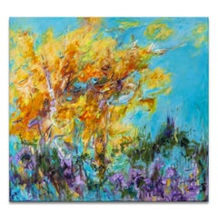 'Fall Again' Original Wrapped Canvas Abstract Painting by Karen H. Salup