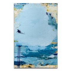 'Cloudy Skies' Wrapped Canvas Original Abstract Painting by Tammy Staab